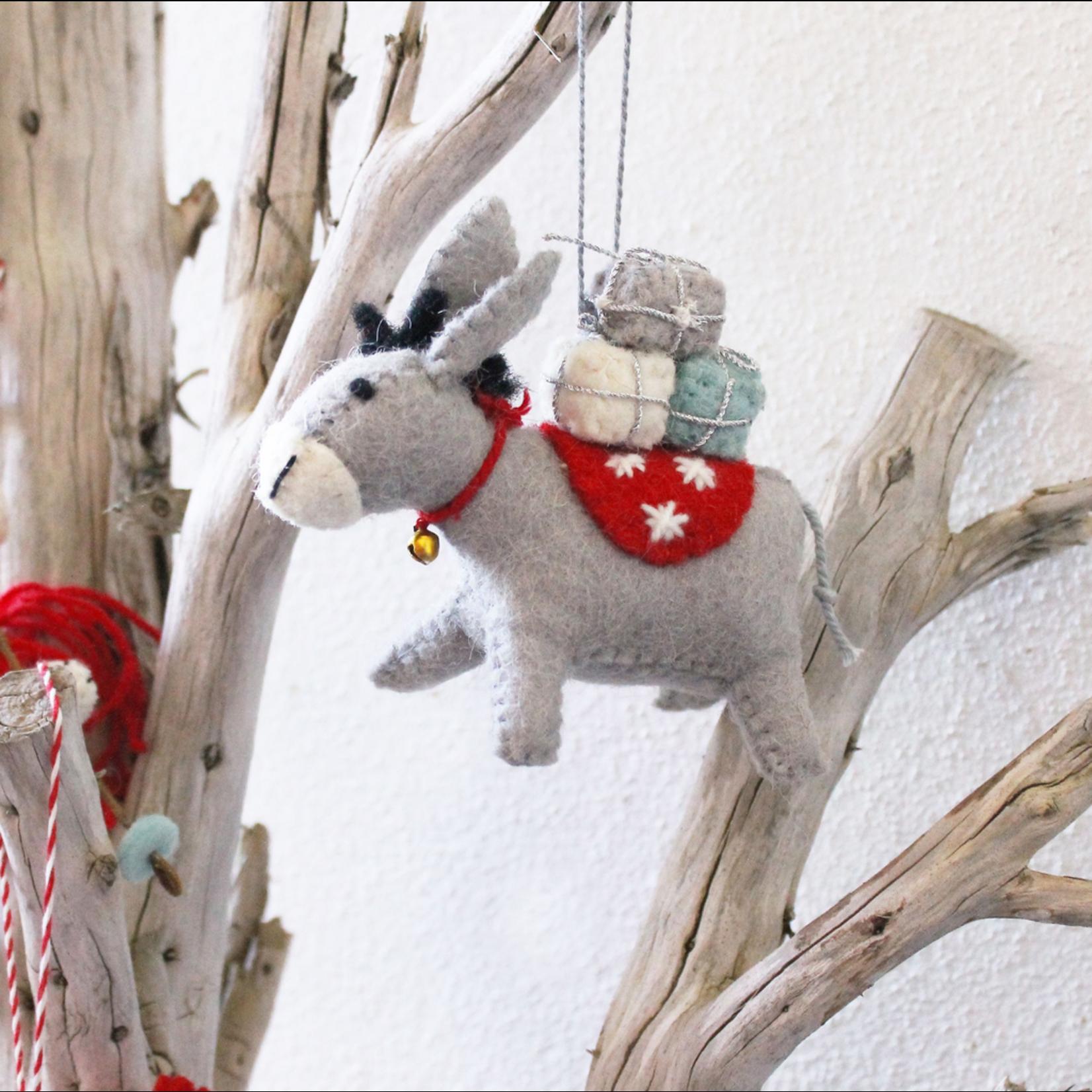 Fiona Walker Fiona Walker Hanging Donkey with Presents