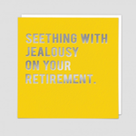 Redback Cards Jealous Retirement Card