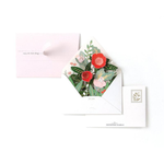 UWP Luxe Floral Envelope Card - pop up card