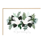 Jade Fisher On Your Wedding Day Doves Card