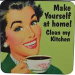 Retro Humour Coaster Single - Make Yourself At Home