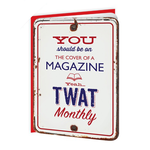 Brainbox Candy Twat Monthly Embossed Card
