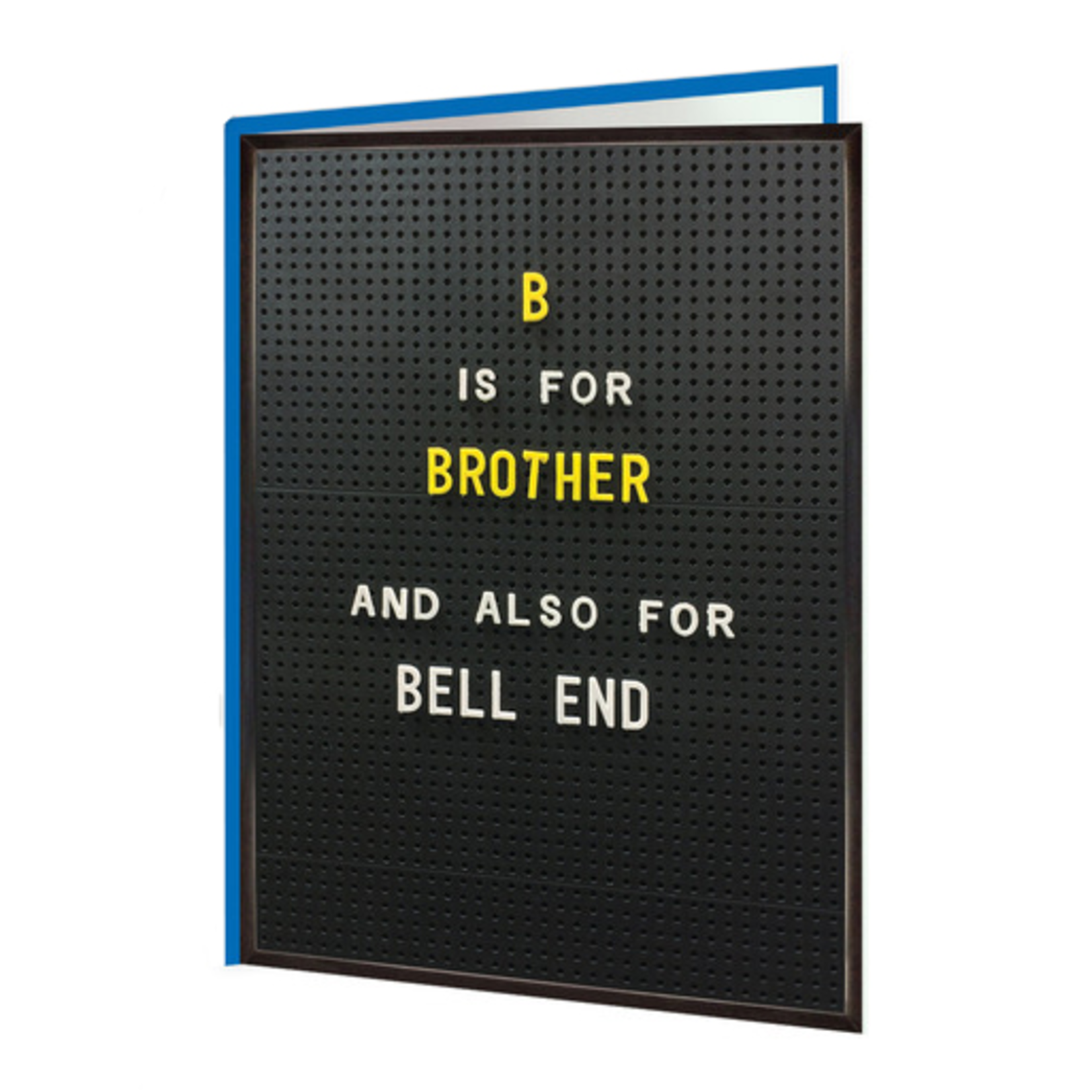 Brainbox Candy B is for Brother Card