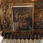 Rifle Rifle Shimmery New Year Card with gold foil