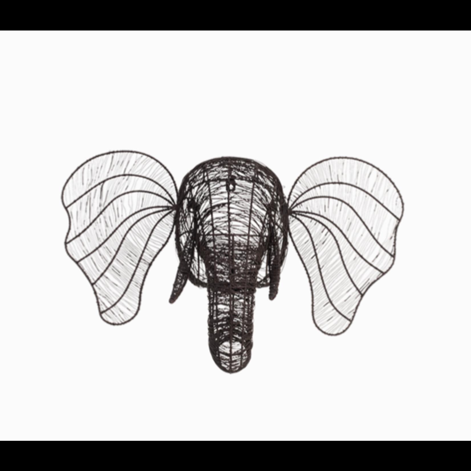 Nkuku Eko Wire Elephant Head - Rust -
