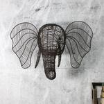 Nkuku Eko Wire Elephant Head - Rust