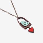 Materia Rica Materia Rica Blue Bird and Love Necklace