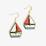 Materia Rica Materia Rica Dreamy Boat Earrings