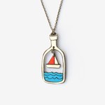 Materia Rica Materia Rica Boat in a Bottle Necklace