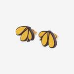 Materia Rica Materia Rica Tres Hojas Yellow Earrings
