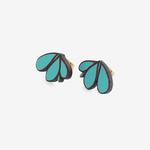 Materia Rica Materia Rica Tres Hojas Blue Earrings