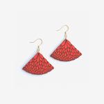 Materia Rica Materia Rica Abanico Red Earrings