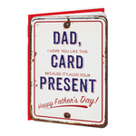 Brainbox Candy Card & Present Father's Day Card