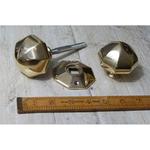 """IRON RANGE Octagonal Door Handle Knob Solid Brass3""""/75mm"""