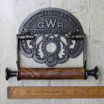IRON RANGE GWR Toilet Roll Holder Iron and Wood