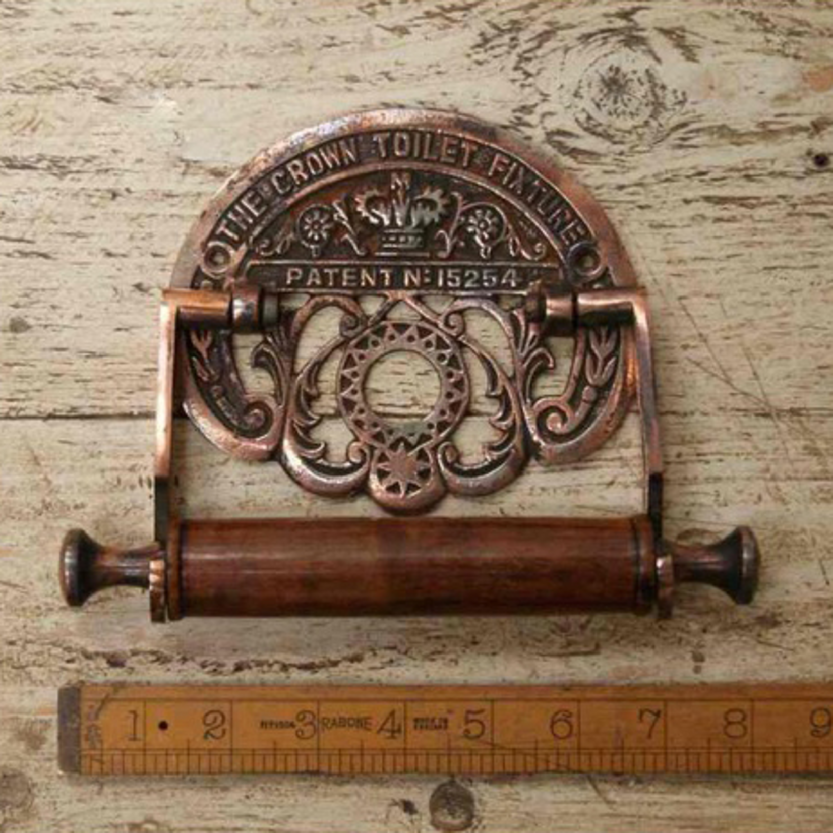 IRON RANGE Crown Toilet Roll Holder Antique Copper