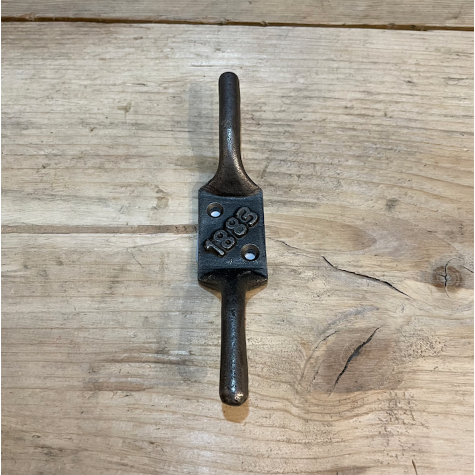 IRON RANGE Double Cleat Hook '1883' Antique Iron