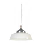 Light & Living Hanging lamp 40 cm AISHA white-zinc with wood