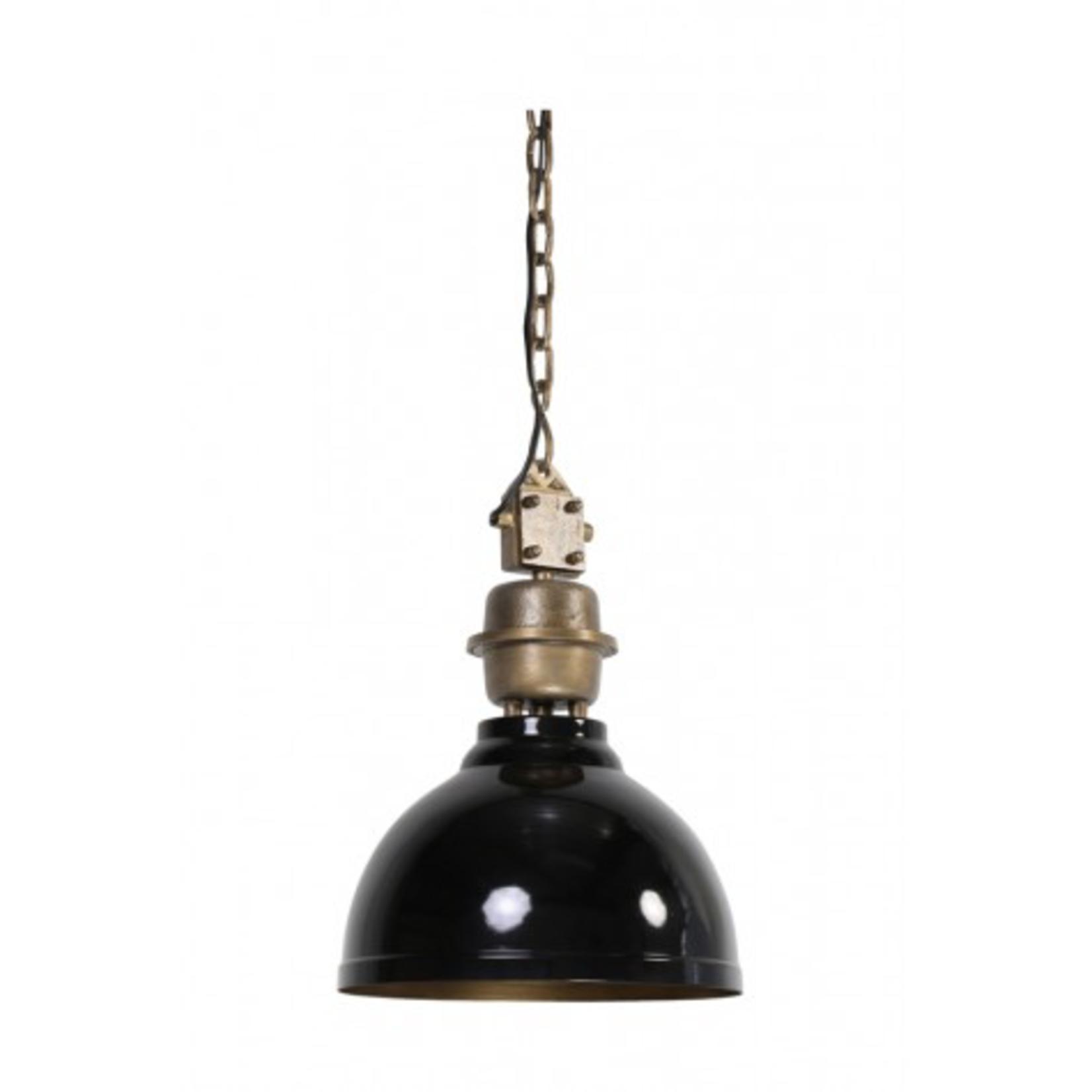Light & Living Hanging lamp 35 cm CLINTON black-antique bronze/brass