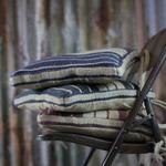 Nkuku Iwa Chair Cushion - Natural and Burgundy
