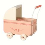 Maileg Maileg Baby Pram, Powder Pink for Micro