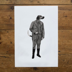 Ben Rothery Illustrator Ben Rothery A4 Print Kincaid Dog Black and White