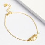 Lisa Angel Gold Feather Bracelet