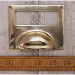 IRON RANGE Cup Handle Label Frame Dimple Lipped Solid Brass