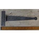 "IRON RANGE Tee Hinge Light Duty Penny End Hand Forged 12"" Antique Iron"