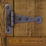 "IRON RANGE Tee Hinge Light Duty Penny End Hand Forged 4"" Antique Iron"