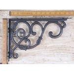 IRON RANGE Dutch Shelf / Wall Hanging Bracket Antique Iron and wax 230 x 340mm