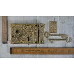IRON RANGE Rim Lock Brass Ornate EASTLAKE Brass