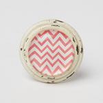 RJB Stone Chevron Drawer Knob Pink