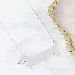 Lisa Angel Flat Sausage Dog Necklace in Silver