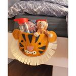 Fiona Walker Fiona Walker Flat Head Bedtime book / toy drink bed Pouch - Tiger