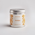 St. Eval St Eval Tin Folk Amber Candle