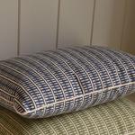 Grand Illusions Cushion Lima Indigo W/Ecru Piping 50x35cm