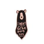 OLD ENGLISH CO. Bear Hug Enamel Pin