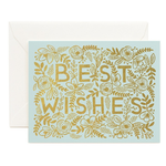Rifle Rifle Golden Best Wishes Card with gold foil