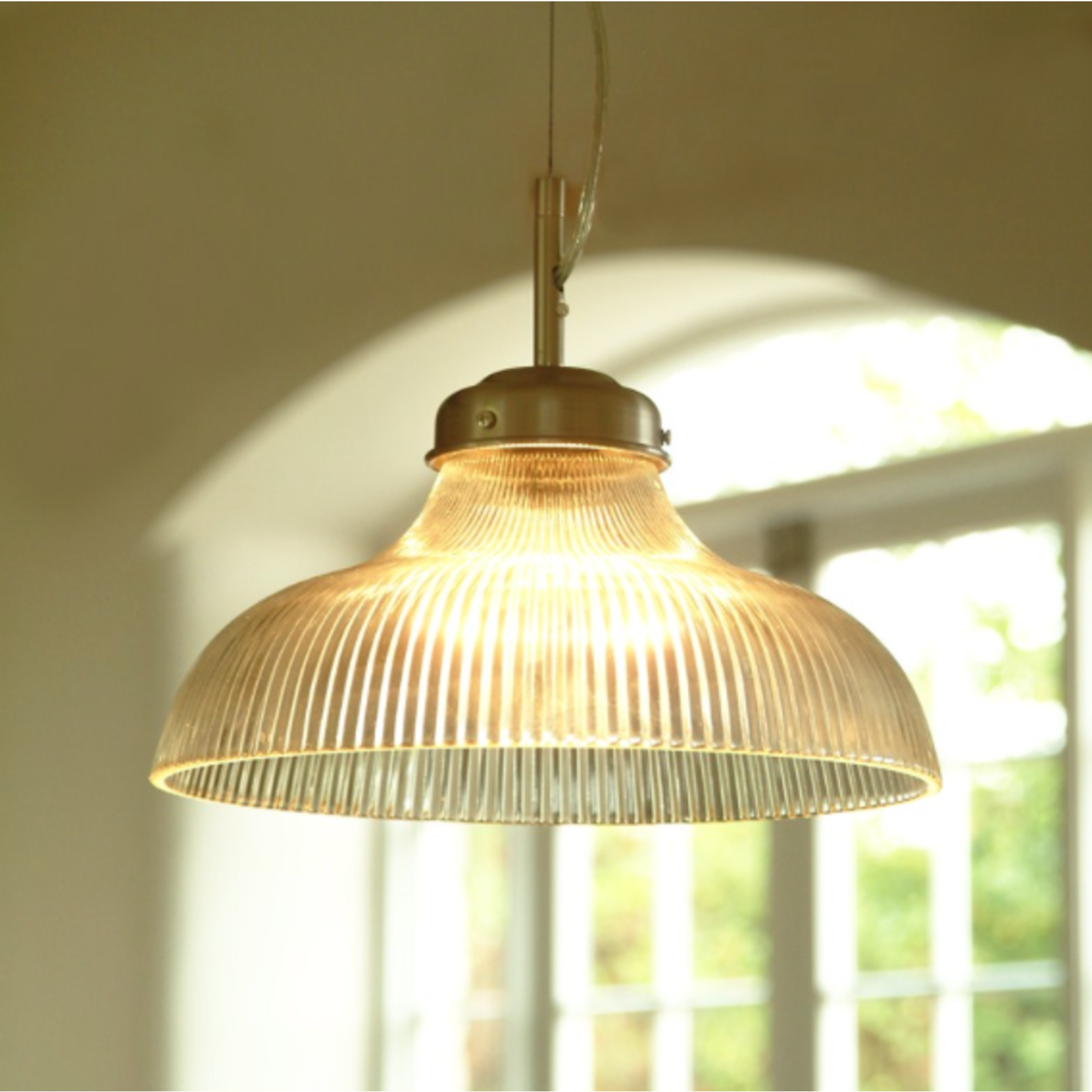 GT Fluted Glass Shade Only -Choose Flex Lampholder and Rose or Replacement SHADE for Paris Light - NO FIXINGS fits our shade ring lampholders see the images