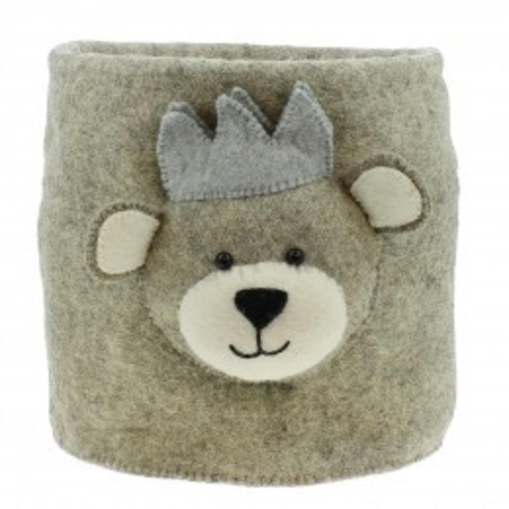Fiona Walker Fiona Walker Storage Bag - Baby Bear with Crown