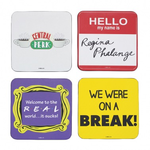 Half Moon Bay Coaster Set Of 4 -  Friends (Quotes)