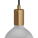 CCIT Brushed Bronze Cylindrical metal E27 lamp holder kit