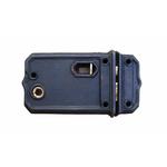IRON RANGE Rim Latch with Slide Bolt Cast Iron door lock SMALL 125mm