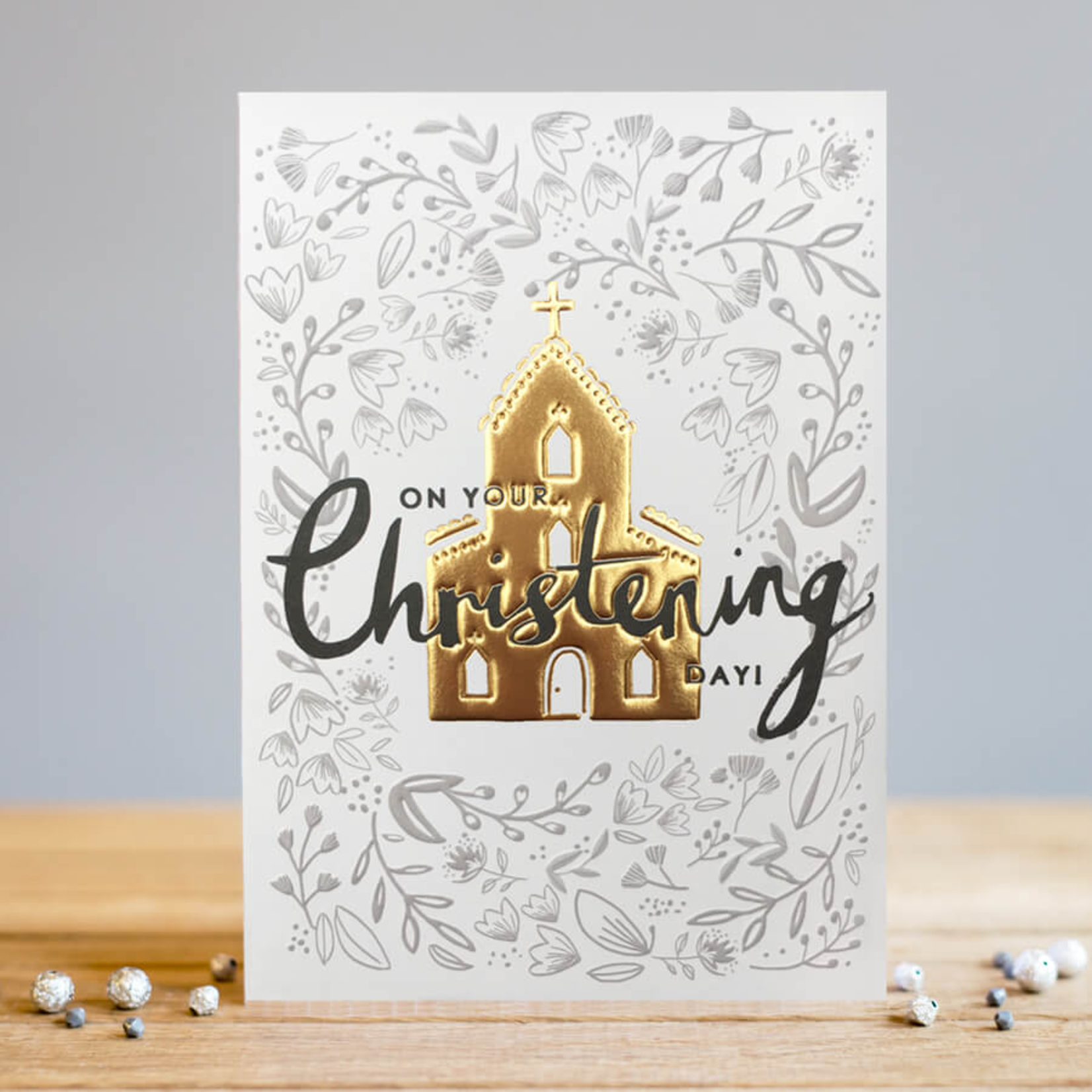 Louise Tiler Gold On Your Christening Day Card