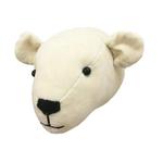 Fiona Walker Fiona Walker Mini Cream Velvet Polar Bear Head