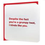 Brainbox Candy Grumpy Twat Red Foiled Valentine's Day Card