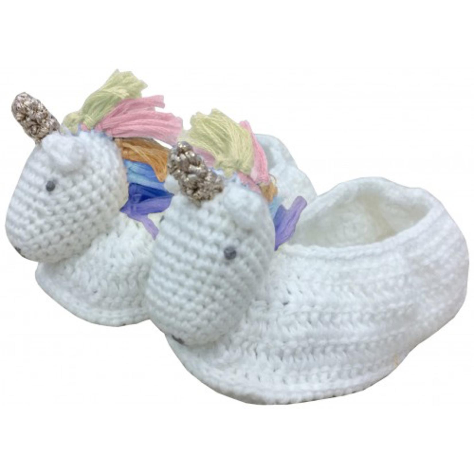 Albetta Albetta Crochet Rainbow Unicorn Booties
