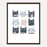 U Studio Design Ltd Cats Screen Print