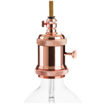 CCIT Copper Lampholder with dial switch and cable Grip E27